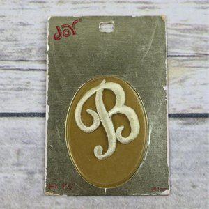 New Old Stock Iron On Monogram Letter B Joy Brand